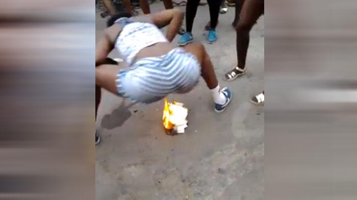 Girl Sets Ass on Fire - Video eBaums World